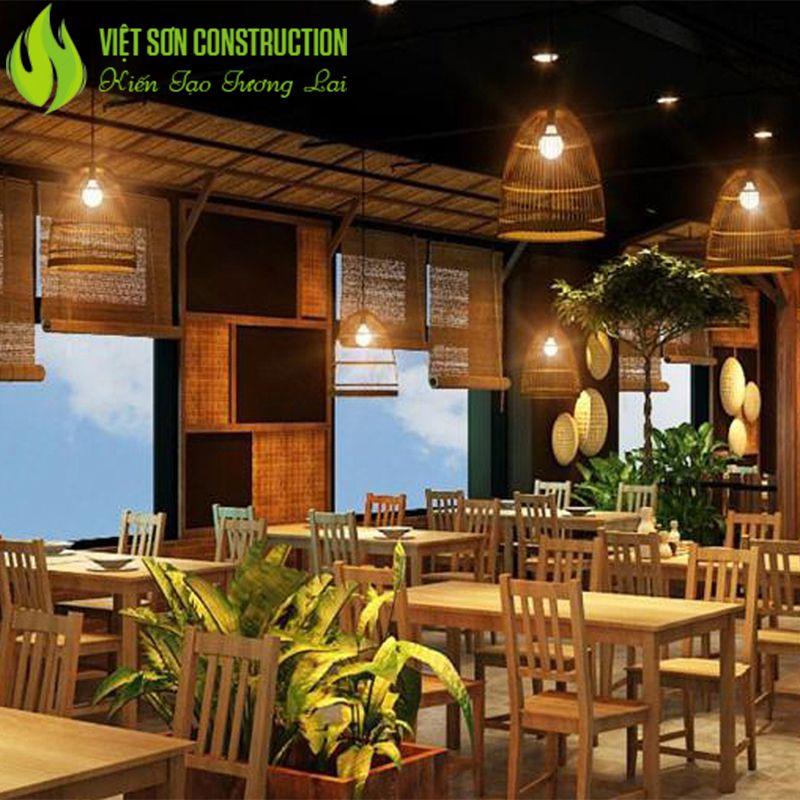Nhà hàng thiết kế mộc mạc